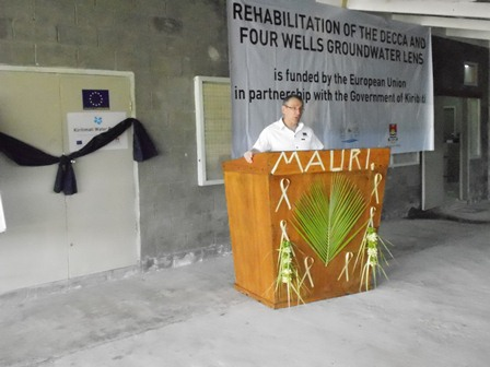 Water in Kiritimati: one step forward with EU Support